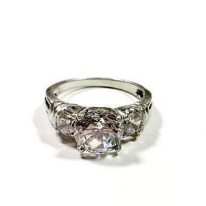Sterling Silver Brilliant CZ Ring